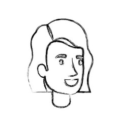 Blurred silhouette of woman face with short hair vector