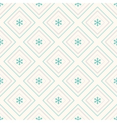 Geometric seamless pattern rhombus and snowflakes vector image vector image