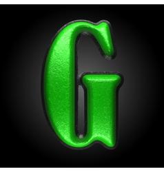 Green plastic figure g vector