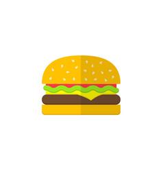 Hamburger flat icon food drink elements vector