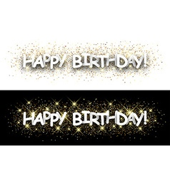 Happy birthday paper banners vector