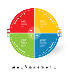 infographic circle with icon vector image vector image