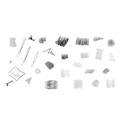 Ink pen set vector