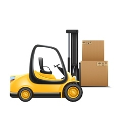 Lift Truck With Box vector image