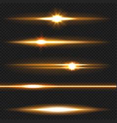 orange laser beams pack vector image vector image