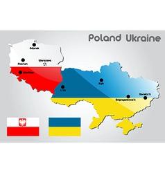 Poland and Ukraine vector image