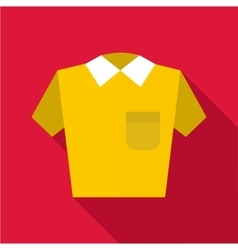 Polo shirt icon flat style vector image