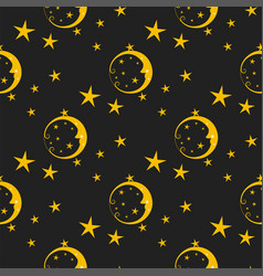 seamless pattern background moon nature cosmos vector image