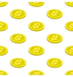 Seamless pattern gold coins vector image vector image