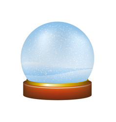 Snow globe with winter landscape vector