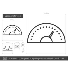 Speedometer line icon vector
