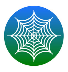 Spider on web white icon in vector