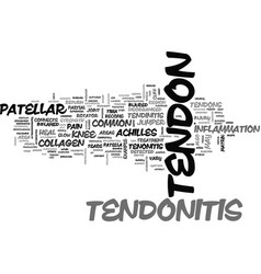 What is tendonitis text word cloud concept vector