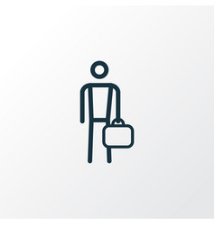 Work man outline symbol premium quality isolated vector