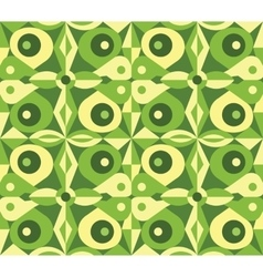 Abstract green geometrical seamless pattern vector