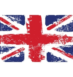 British flag grunge white vector