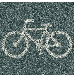 Bicycle sign vector