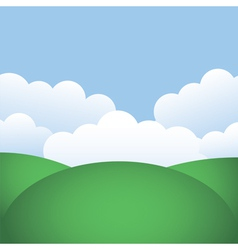 Hills and blue sky vector