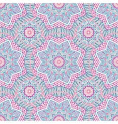 Seamless pattern tracery oriental design vector
