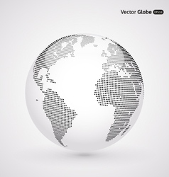 Abstract dotted globe vector