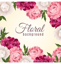 Floral realistic background vector