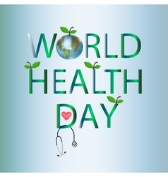 World health day on 7 april globe inscription vector