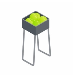 Basket for keep tennis balls icon vector