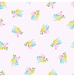 Seamless pattern with small blue flowers forget vector