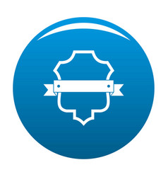 Badge guardian icon blue vector