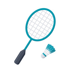 Badminton racket and shuttlecock vector