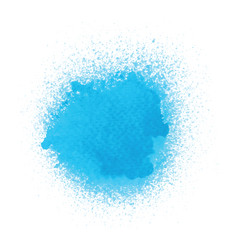 Blue spray paint on white background vector