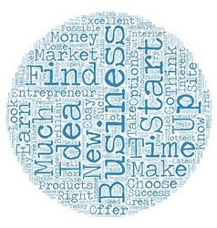 Business ideas entrepreneur 1 text background vector