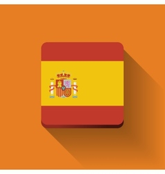 Button with flag of Spain vector image vector image