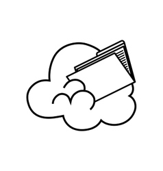 Cloud computing files vector