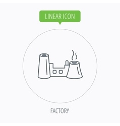 Factory icon Industrial building sign vector image