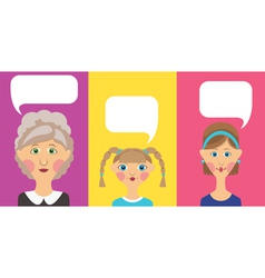 Family speech bubbles vector image