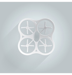 Flat icon for white quadrocopter vector