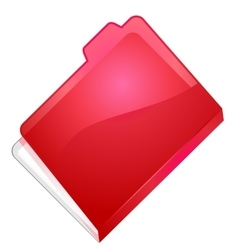 Folder with document vector image