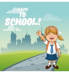 Girl cartoon of back to school design vector