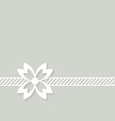 grey background with a flower vector image vector image