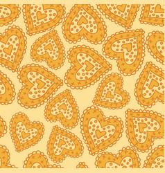 Hearts yellow vector
