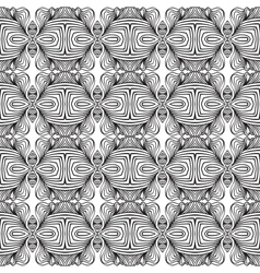 linear art deco black and white pattern vector image vector image