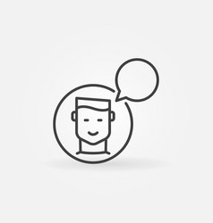 man with speech bubble icon talking or vector image vector image