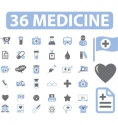 medicine web signs vector image