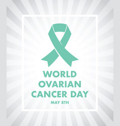 Ovarian cancer awareness vector