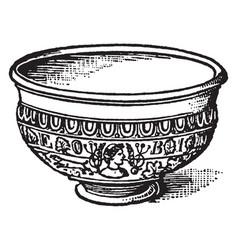 Roman bowl - gaulish samian ware or terra vector