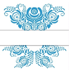 Russian ornaments art frame in gzhel style vector image vector image