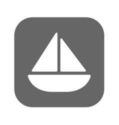 Sailing yacht flat icon with vector