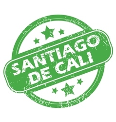Santiago de cali green stamp vector