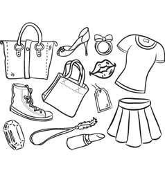 shopping item vector image vector image